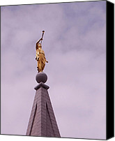 Angel Moroni Canvas Prints - The Angel Moroni Canvas Print by Rona Black