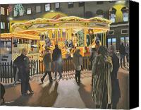 Malcolm Warrilow Canvas Prints - The carousel Canvas Print by Malcolm Warrilow