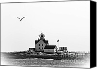 Brenda Giasson Canvas Prints - The Cuckolds Lighthouse Canvas Print by Brenda Giasson