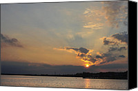 Terry Deluco Canvas Prints - The end of the day Canvas Print by Terry DeLuco