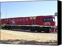 National Photo Special Promotions - THE GHAN Train Australia Canvas Print by Janet Watson