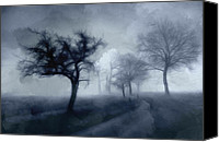 Pencil Special Promotions - The haunted Road Canvas Print by Stefan Kuhn