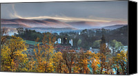 Farm Canvas Prints - The Hills Canvas Print by Bill  Wakeley