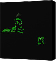 Avengers Canvas Prints - The Hulk Ponders Canvas Print by Mark Fairleigh