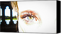 Women Photo Special Promotions - The Human Eye Canvas Print by Leaha Phillips