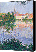 Signac Canvas Prints - The Island at Lucas near Les Andelys Canvas Print by Paul Signac
