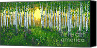 Silver Canvas Prints - The Light Beyond Canvas Print by Michael Swanson