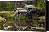 Old Mills Canvas Prints - The Old Mill After the Rain Canvas Print by Amber Kresge