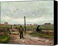 Job Painting Canvas Prints - The Outskirts of Paris Canvas Print by Vincent van Gogh