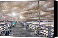 Topsail Island Canvas Prints - The Perfect Storm Canvas Print by East Coast Barrier Islands Betsy A Cutler
