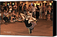 Skate Photo Canvas Prints - The Plaza at Night - Madrid Canvas Print by Mary Machare