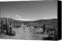 Ann Powell Canvas Prints - The Road black and white photograph Canvas Print by Ann Powell