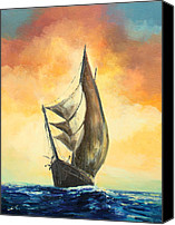 Boat Special Promotions - The Schooner Canvas Print by Luke Karcz