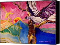 Featured Tapestries - Textiles Canvas Prints - The Wings of Freedom Canvas Print by Patricia Bunk