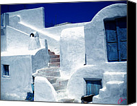 Colette Canvas Prints - Thirasia island Ancient House near Santorini Greece Canvas Print by Colette Hera  Guggenheim