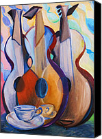 Frederick Luff Canvas Prints - Three Guitars Canvas Print by Luff  Gallery