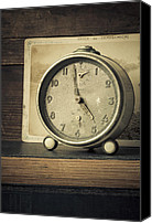 Worn Canvas Prints - Time Stood Still Canvas Print by Amy Weiss