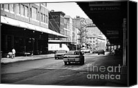 South Street Seaport Canvas Prints - To South Street 1990s Canvas Print by John Rizzuto