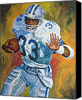 Dallas Cowboys Canvas Prints - Tony Dorsett Canvas Print by Mike Rabe
