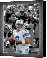 Dallas Cowboys Canvas Prints - Tony Romo Cowboys Canvas Print by Joe Hamilton