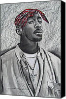 Eric Dee Canvas Prints - Too Soon Tupac Canvas Print by Eric Dee
