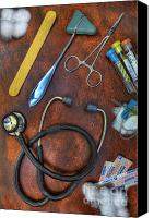 Neurosurgeon Canvas Prints - Tools of the Trade in Orange - Nurse Canvas Print by Lee Dos Santos