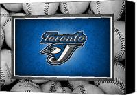 Baseball Canvas Prints - Toronto Blue Jays Canvas Print by Joe Hamilton