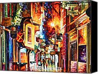 Great Painting Canvas Prints - Town In england Canvas Print by Leonid Afremov