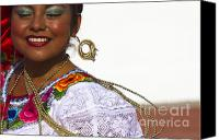 Demonstration Photo Canvas Prints - Traditional Ethnic Dancers in Chiapas Mexico Canvas Print by David Smith