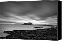 Lighthouses Canvas Prints - Trwyn Du Lighthouse I Canvas Print by David Bowman