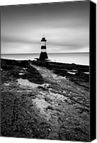 Lighthouses Canvas Prints - Trwyn Du Lighthouse II Canvas Print by David Bowman
