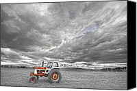 Angry Sky Canvas Prints - Turbo Tractor Superman Country Evening Skies Canvas Print by James Bo Insogna
