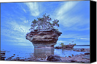 Ken Williams Canvas Prints - Turnip rock 2013 Canvas Print by Ken Williams