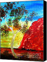 Landscape Jewelry Canvas Prints - Uluru Ayers Rock Australia Canvas Print by Roberto Gagliardi