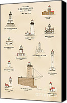 Point Wilson Lighthouse Canvas Prints - U.S Lighthouses of the West Coast Canvas Print by Jerry McElroy
