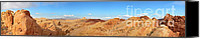 Red Rock Formations Canvas Prints - Valley of Fire pano Canvas Print by Jane Rix