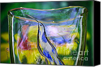 Landscapes Glass Art Canvas Prints - Vinsanchi Glass Art-1 Canvas Print by Vin Kitayama