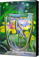 Fall Glass Art Canvas Prints - Vinsanchi Glass Art-2 Canvas Print by Vin Kitayama