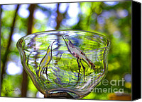 Garden Glass Art Canvas Prints - Vinsanchi Glass Art-4 Canvas Print by Vin Kitayama