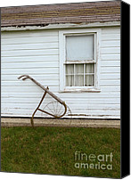 Dilapidated House Canvas Prints - Vintage Farm Tool by Farmhouse Canvas Print by Jill Battaglia