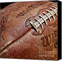 Signed Photo Canvas Prints - Vintage Football Canvas Print by Art Blocks