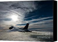 Ascension Island Canvas Prints - Vulcan bomber Canvas Print by Paul Heasman