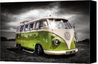 Campervan Canvas Prints - VW camper van Canvas Print by Ian Hufton