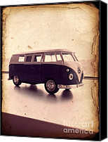 Kombi Canvas Prints - VW Micro Bus Redux Canvas Print by Richard Reeve