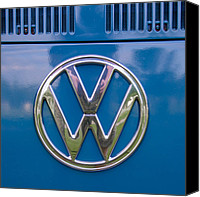 Guy Whiteley Canvas Prints - VW MicroBus Emblem  Canvas Print by Guy Whiteley