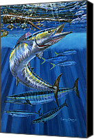 Bud Painting Canvas Prints - Wahoo Rip Canvas Print by Carey Chen