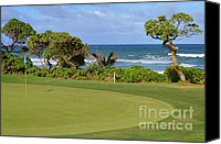 Mary Deal Canvas Prints - Wailua Golf Course - Hole 17 - 4 Canvas Print by Mary Deal