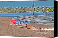 Lake Photo Special Promotions - Waiting to Launch Canvas Print by Jimmy Ostgard