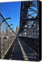 Barbed Wire Fences Photo Canvas Prints - Walk across Sydney Harbour Bridge Canvas Print by Kaye Menner