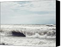 Lisa Russo Canvas Prints - Walk on the Ocean Canvas Print by Lisa Russo